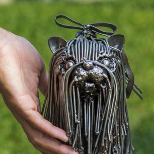 Shitzu dog scrap metal sculpture