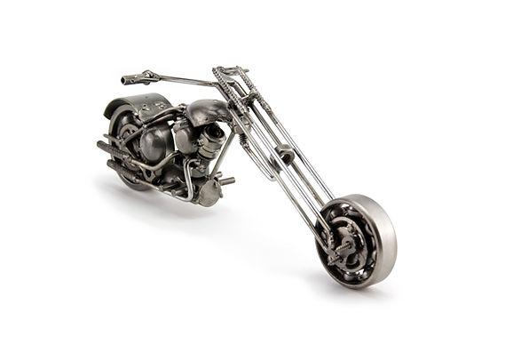 Ape chopper motorcycle scrap sculpture right 2