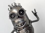 Minion scrap metal sculpture
