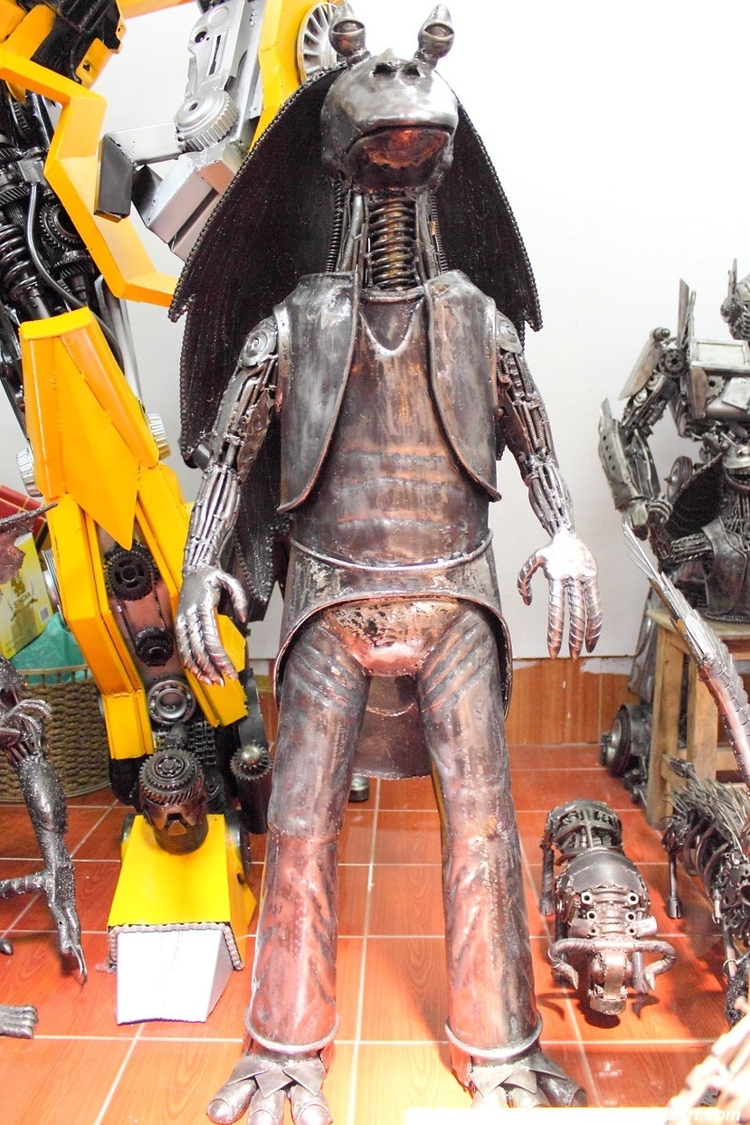 Starwar jajabing recycled metal art sculpture