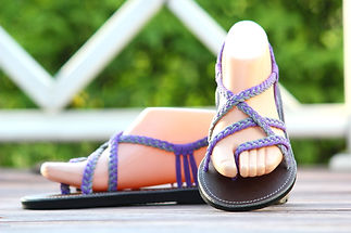 sandals for women sassy design purple grey color by nittynice