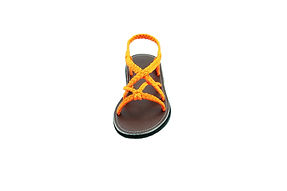 Sandals for women adele style orange color by nittynice