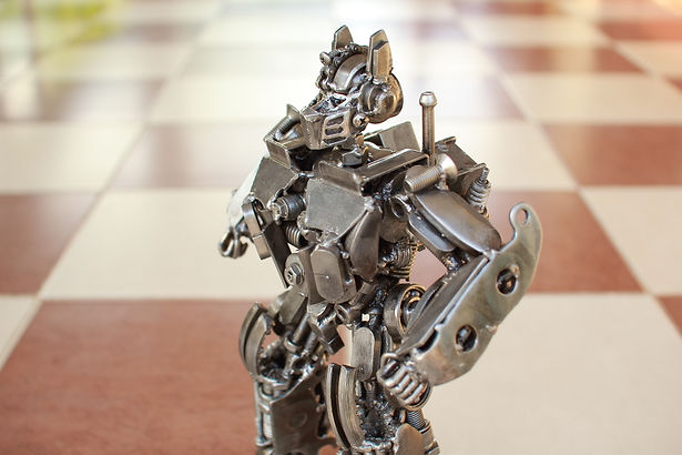 30cm optimus prime scrap metal sculpture zoom body
