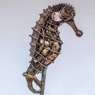 sea horse metal art sculpture mari9art