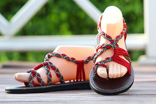 sandals for women zindy design red grey color by nittynice