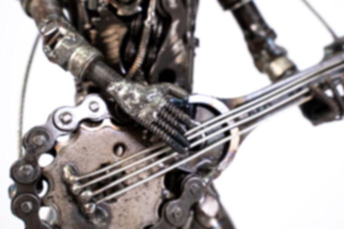 Guitar man metal art sculpture artwork_-