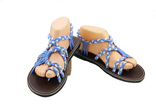 sandals for women sandy design blue white color by nittynice