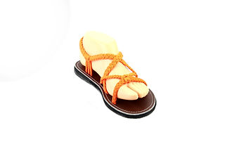 sandals for women zinnia design orange color by nittynice 2