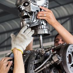 Terminator rustic metal artwork