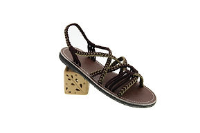 sandals for women emmy design dark brown white color by nittynice