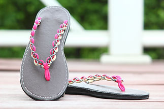sandals for women thong design pink white color by nittynice