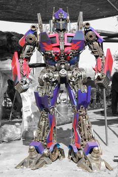 Optimus scrap metal sculpture 2.2 meter