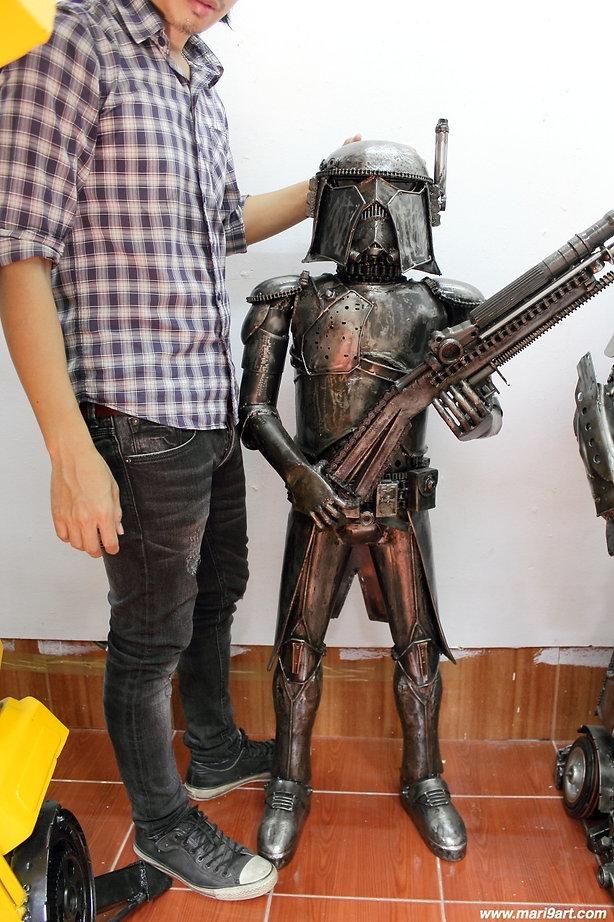 Very cool Star war recycled metal art sculpture