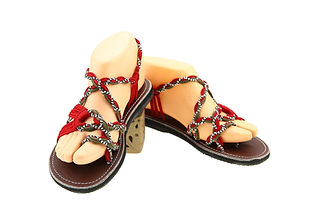 sandals for women rose design red grey color by nittynice