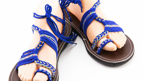 sandals for women nancy design blue color by nittynice
