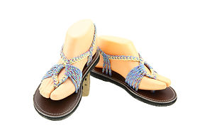 sandals for women baily style blue white color by nittynice