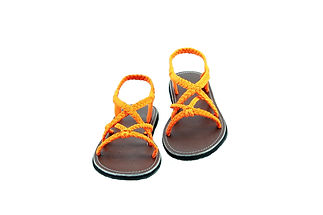 sandals for women zinnia design orange color by nittynice 1