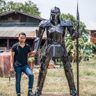 Knight warrior metal