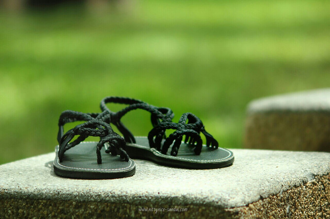 Braided Rope Sandals Colorful and Playful Style