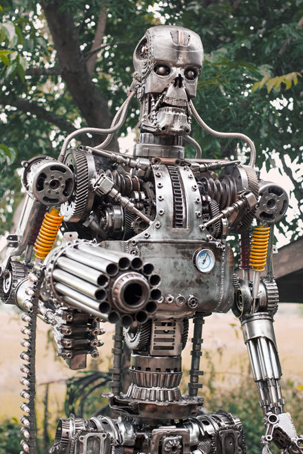 Terminator scrap sculpture