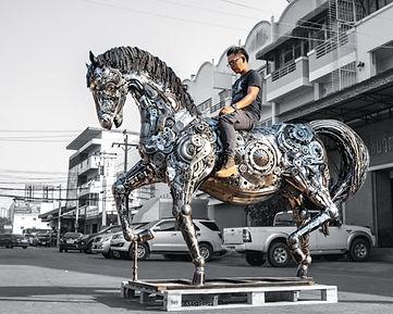 Metal horses scrap metal sculpture_.jpg