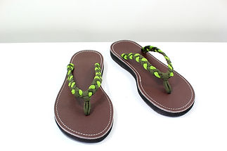 sandals for women thong design green color by nittynice