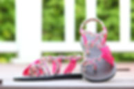 sandals for women zindy design pink whit color by nittynice