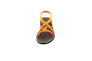 sandals for women zinnia design orange color by nittynice 3