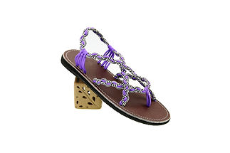 sandals for women paula design purple white color by nittynice