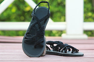 sandals for women zitra design all black color by nittynice