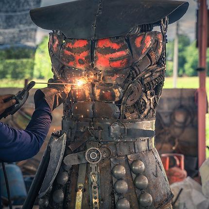 making viking metal sculpture.jpg