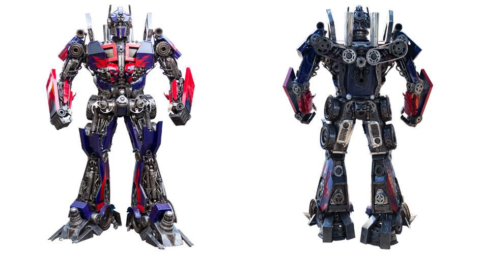 Transformer metal art optimus robot