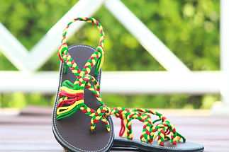 sandals for women zindy design red green yellow color by nittynice