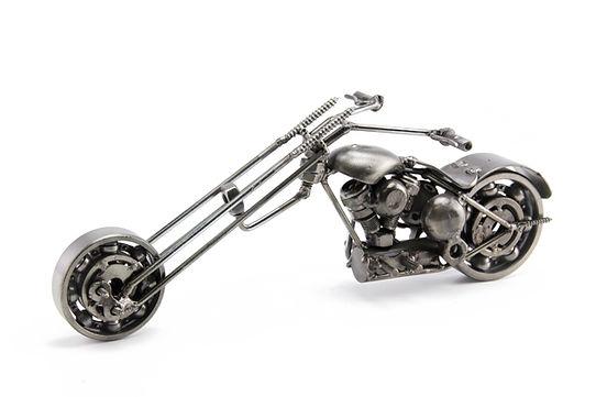 Ape chopper motorcycle scrap sculpture 1