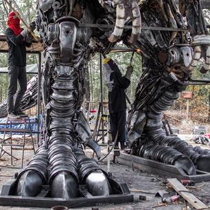 trex life size dinosaur  scrap metal sculpture-4.jpg