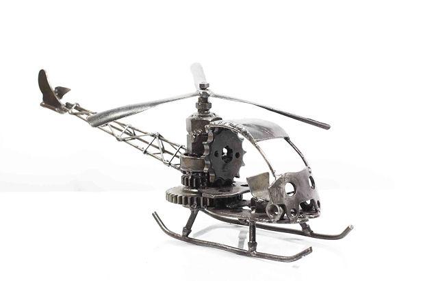 Helicopter bell model type 1 scrap metal sculpture 2