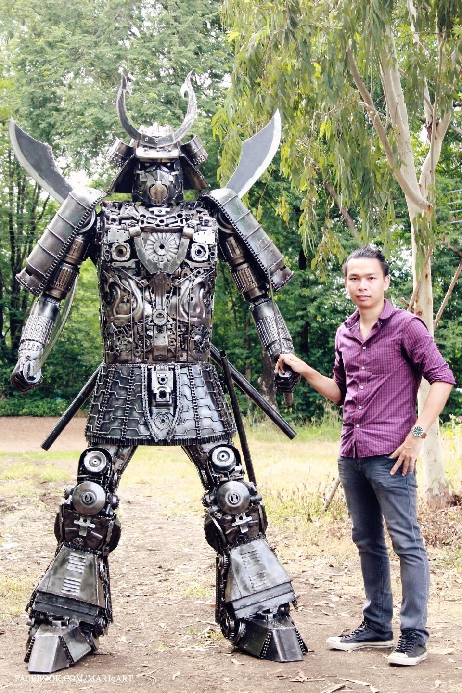 Samurai metal sculptures 2.2meter