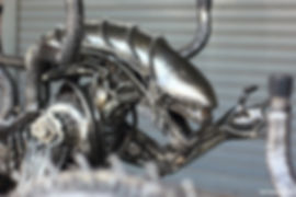 Fantastic Alien metal art made of scrap co