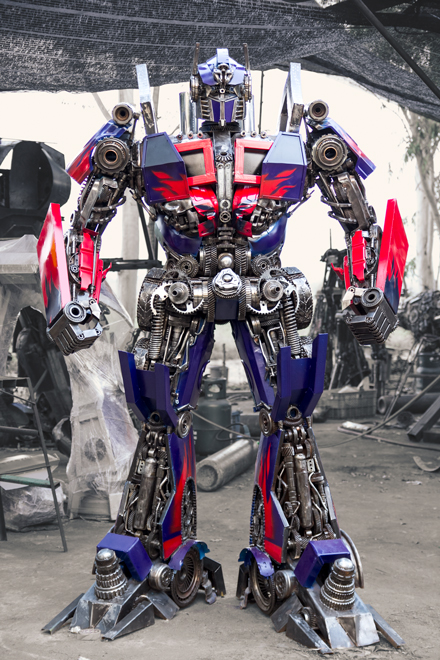 Optimus from Transformer movies