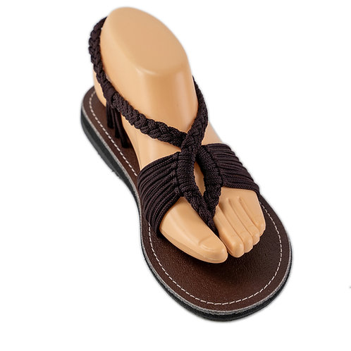 Braided sandals all brown bailey style