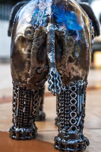 elephant metal art mari9art sculpture-10