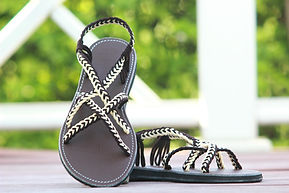 sandals for women ava design brown cream color by nittynice