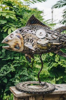 Tuna fish metal artwork