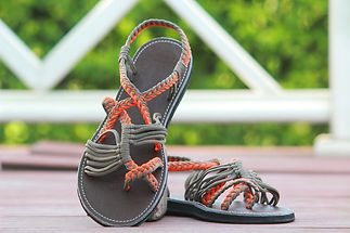 sandals for women zitra design orange grey color by nittynice