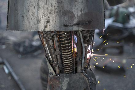 roman scrap metal sculpture making