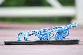 sandals for women abby style blue color by nittynice