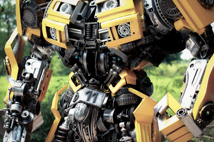 Bumbleble body make from junk