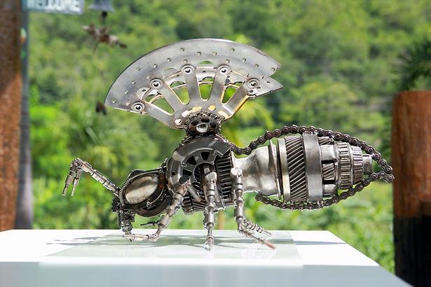 Bee steel sculpture metal sculpture inspired