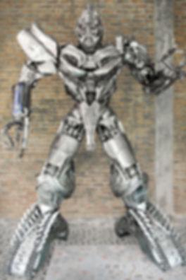 Megatron transfomer metal sculpture steampunk