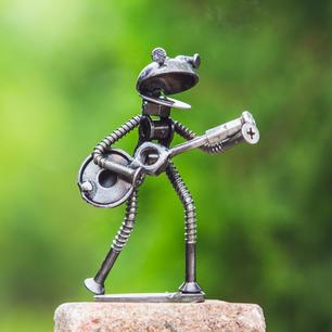 Little Frog scrap metal art sculpture